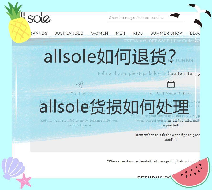 Allsole如何退货?Allsole海淘鞋子出现货损怎么办