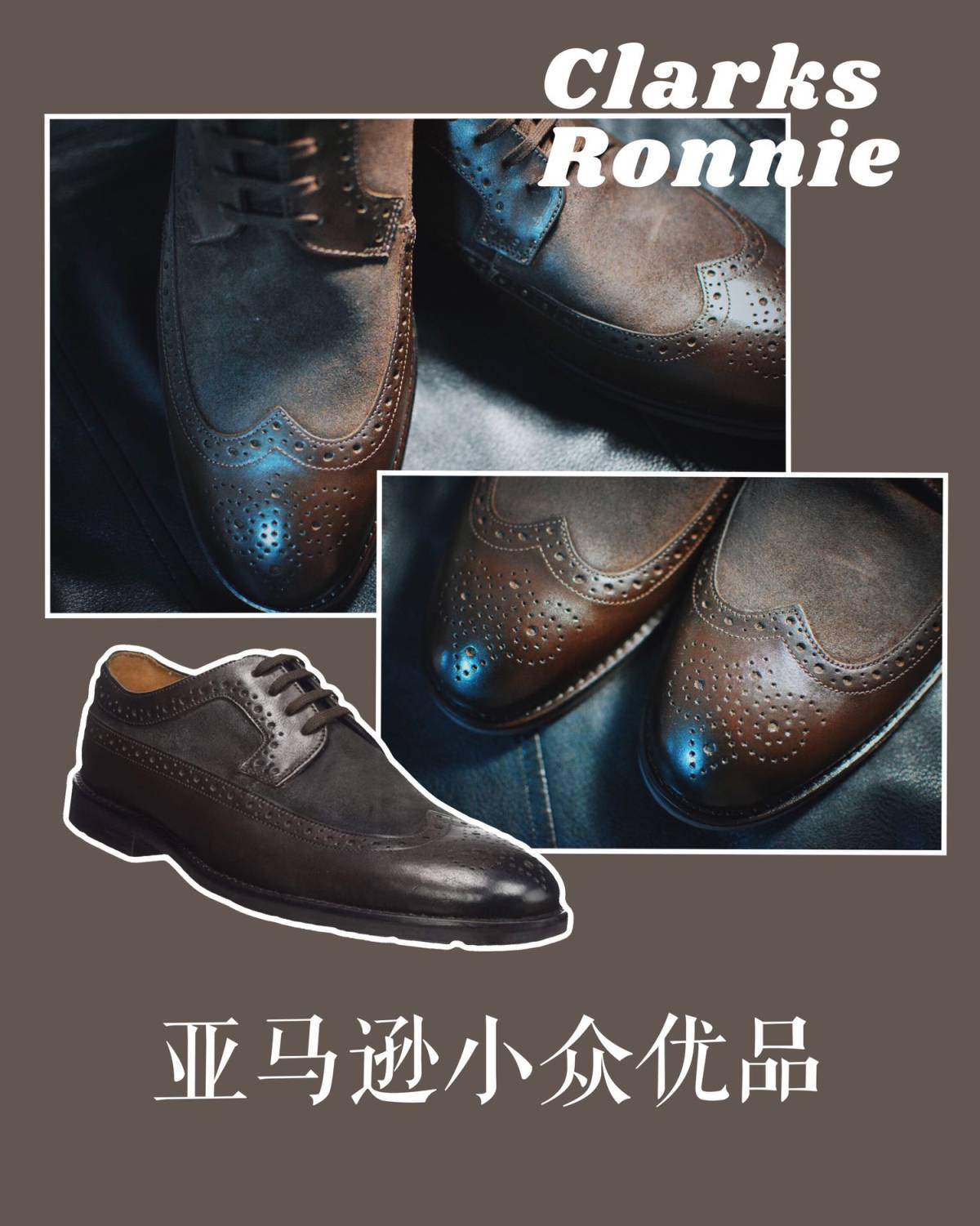 👞Clarks Ronnie Limit 英伦风男士皮鞋�
