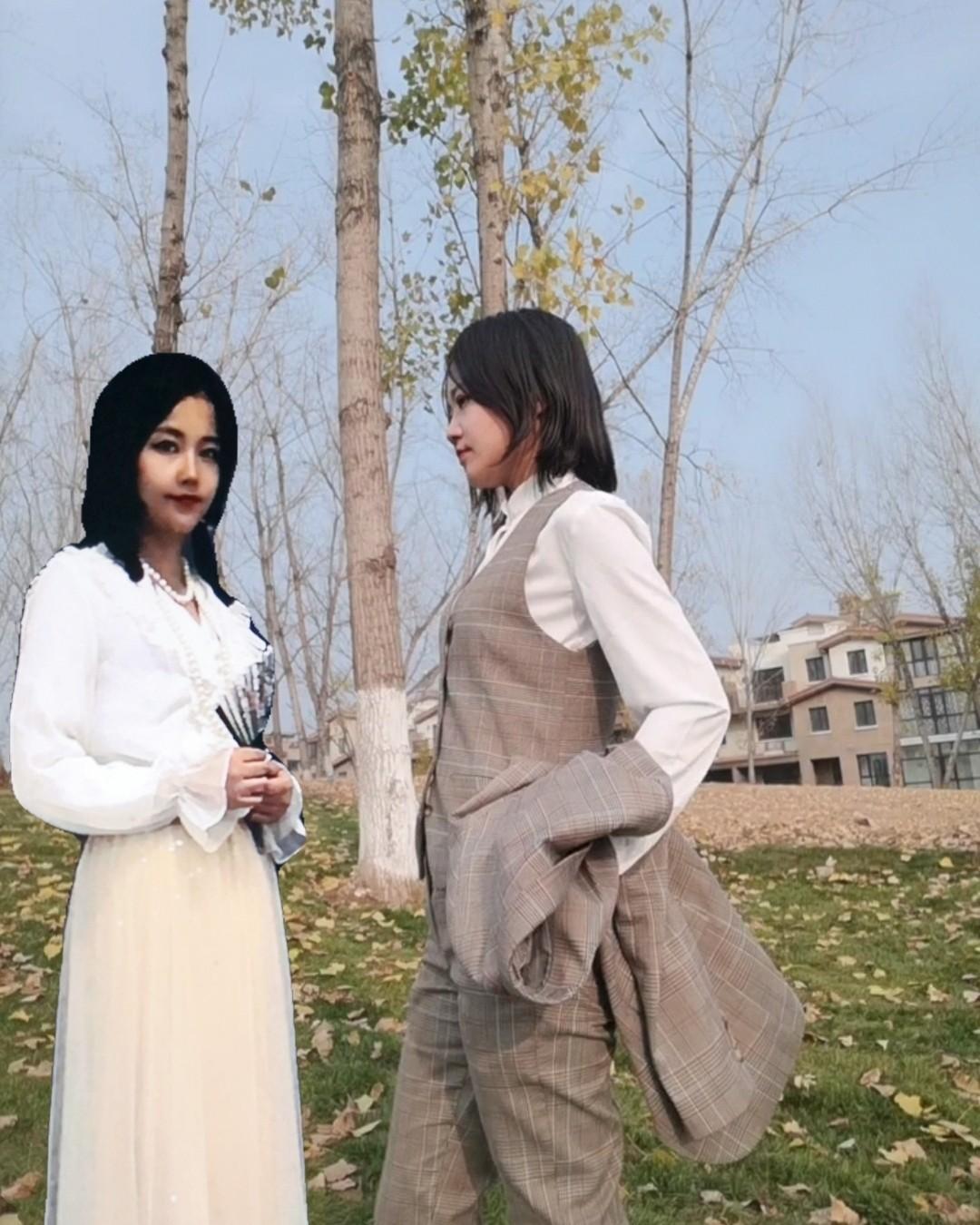 🌟秋膘大作战 😄这两个人是谁?美丽的秋天到了,美美的去约