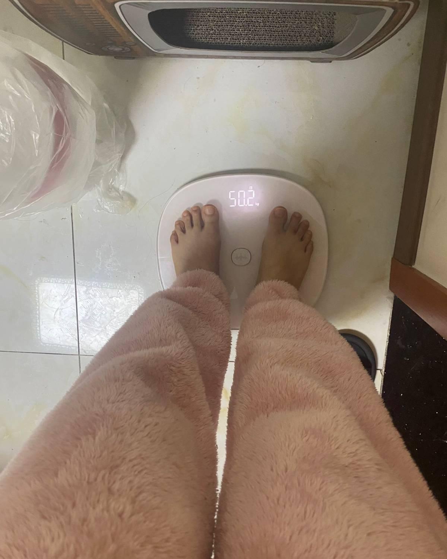 🚲秋膘大作战,海鲜大餐的DAY13 早上空腹称重:50.2