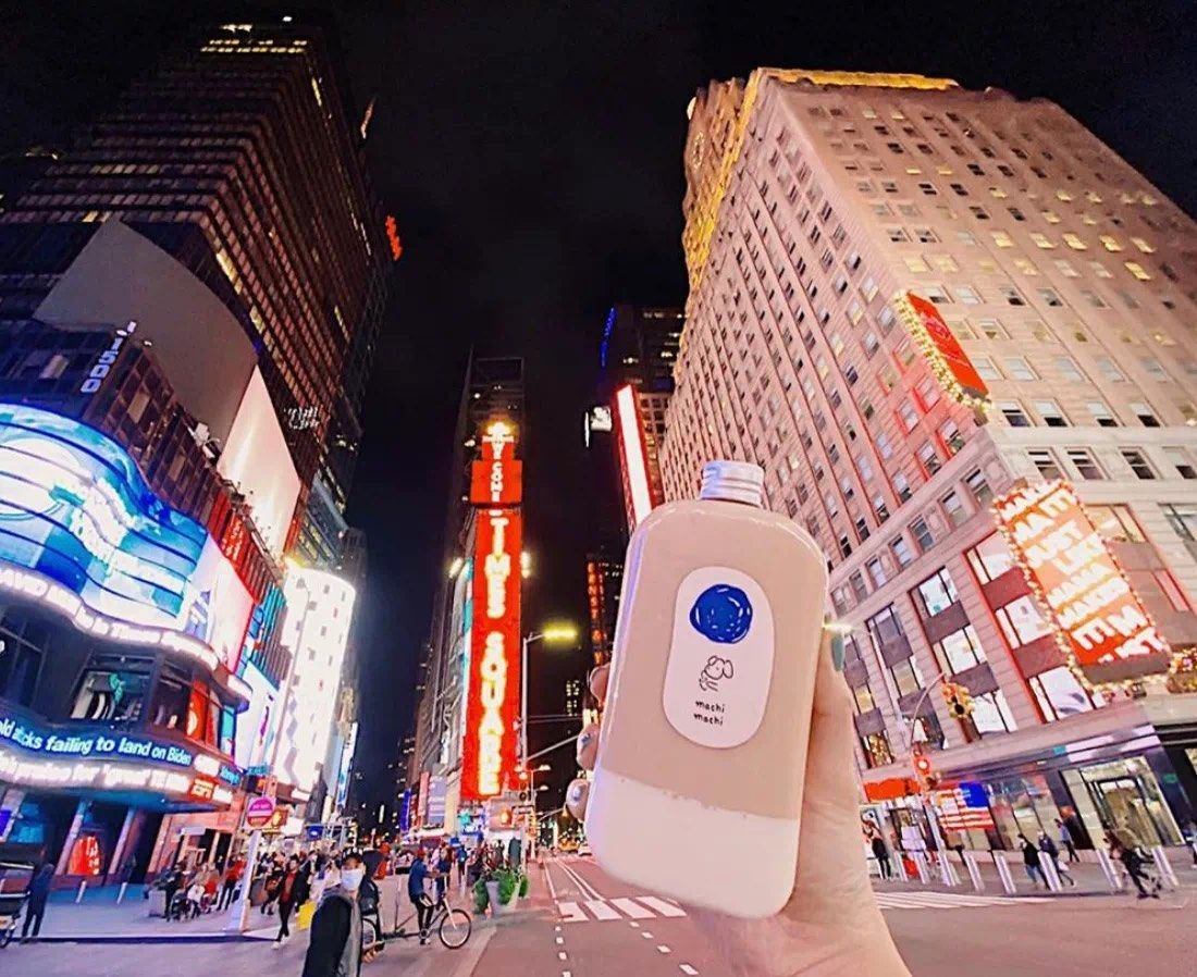 刚开在纽约的周杰伦老婆的奶茶品牌machi machi 居然