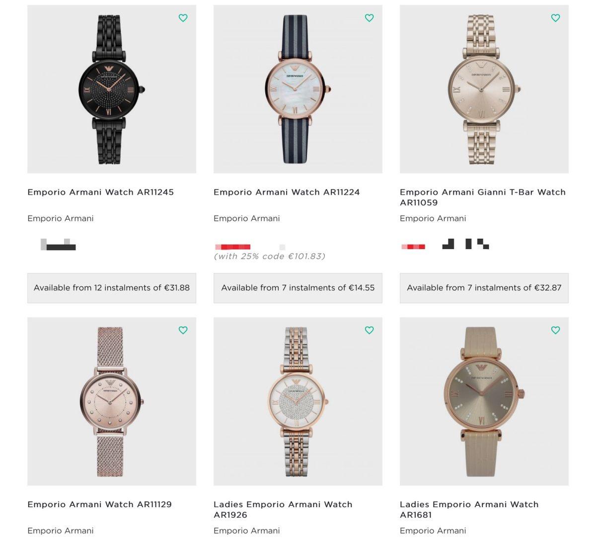 阿玛尼手表⌚️黑五折扣