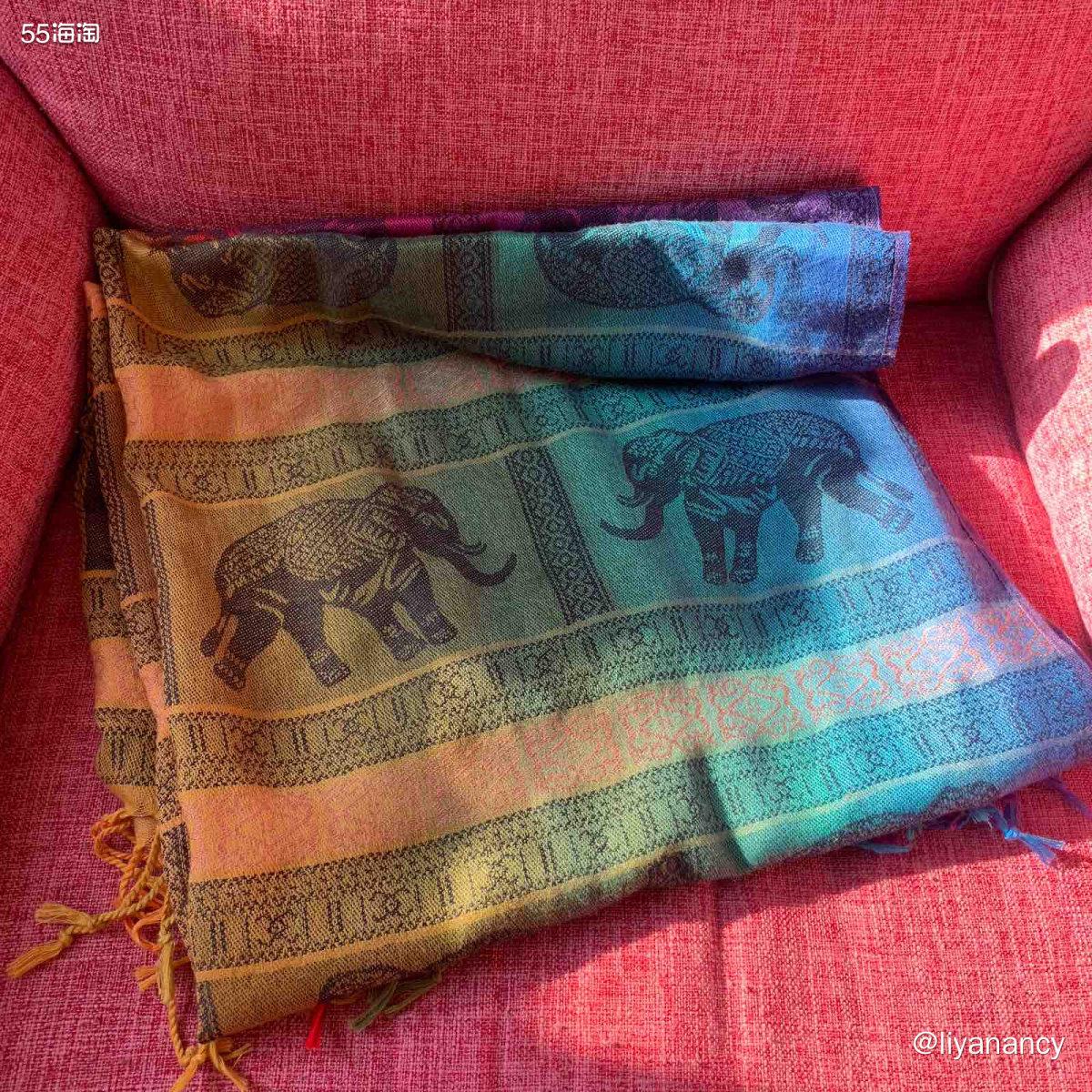 彩色小象围巾  ✨这款围巾还是之前旅游的时候买的,是一款渐变