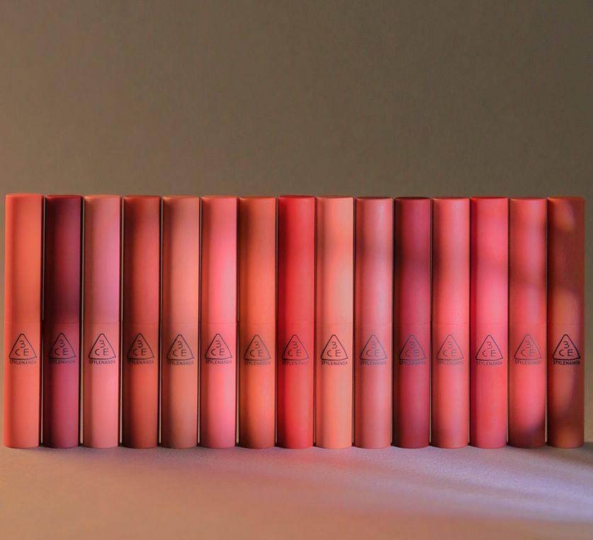 3CE烟管口红色号大全,十款3ce烟管口红色号推荐! 已经下