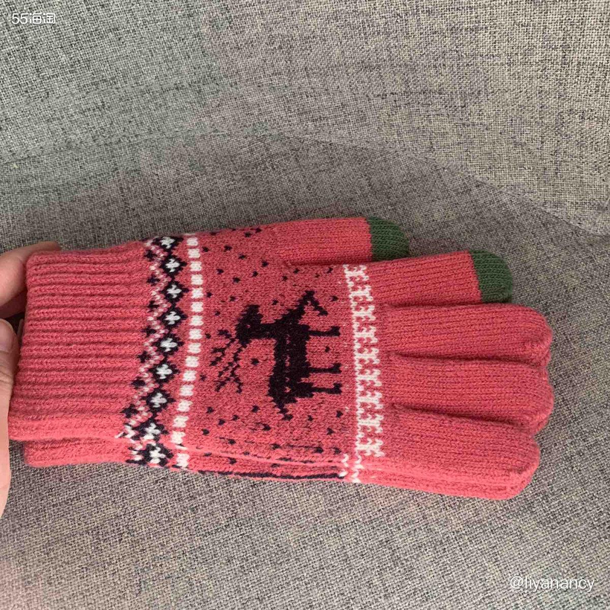 毛线手套  ✨本来我是有个拉绒手套的,北京现在的天气用着薄厚