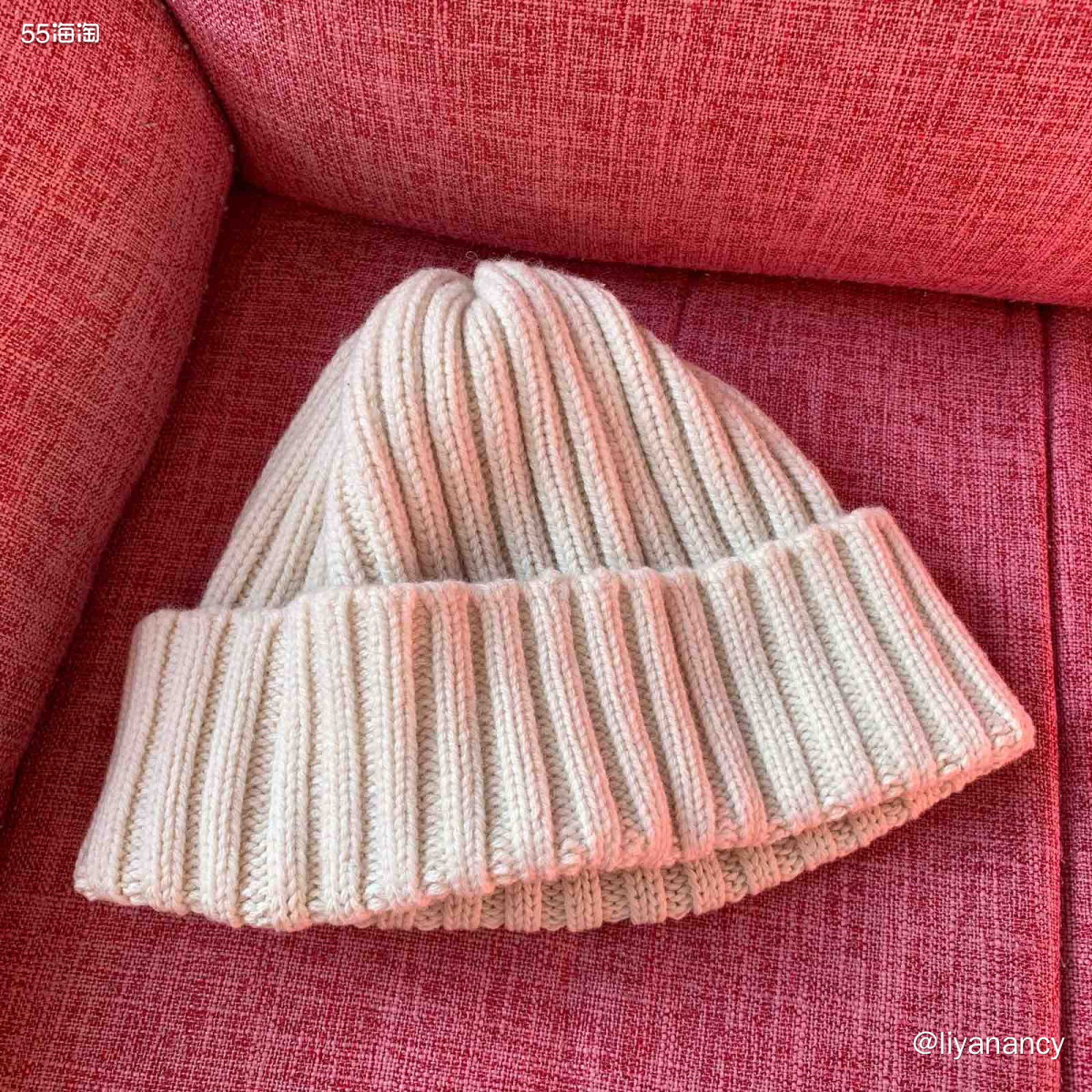 白色基础款毛线帽  ✨每一次纠结的时候,不知道买什么颜色,可