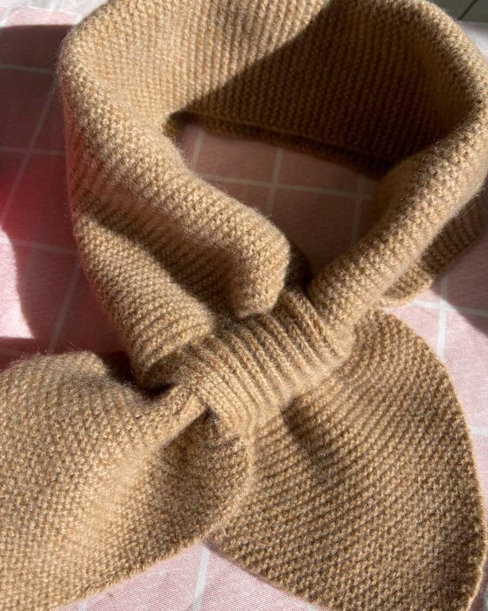 超好看超好看的鄂尔多斯小领结围巾 有没有被Q到,第一眼就爱上