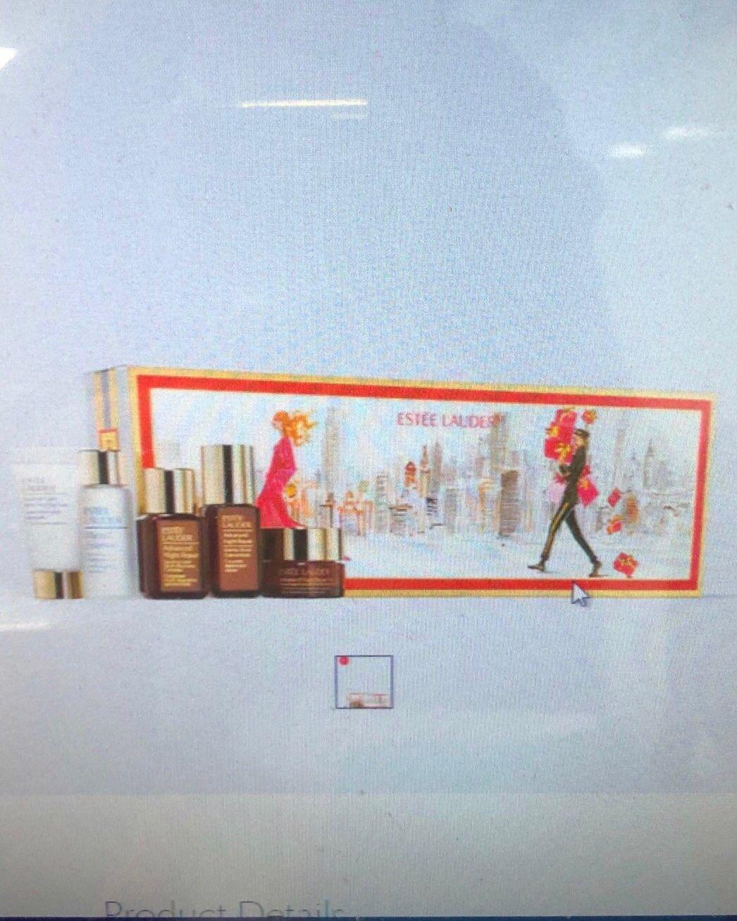 海淘现货:美版雅诗兰黛第七代小棕瓶小样五件套圣诞套装礼盒,全