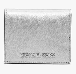Michael Kors Jet Set Travel 皮质翻盖名片夹