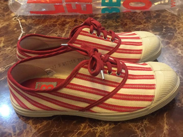 220出法国Bensimon帆布鞋