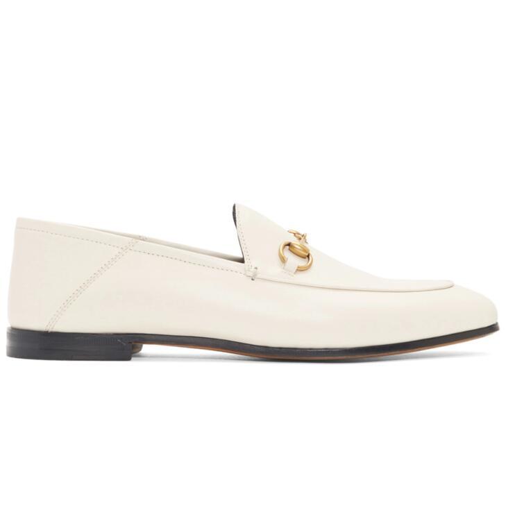 Gucci白色乐福鞋