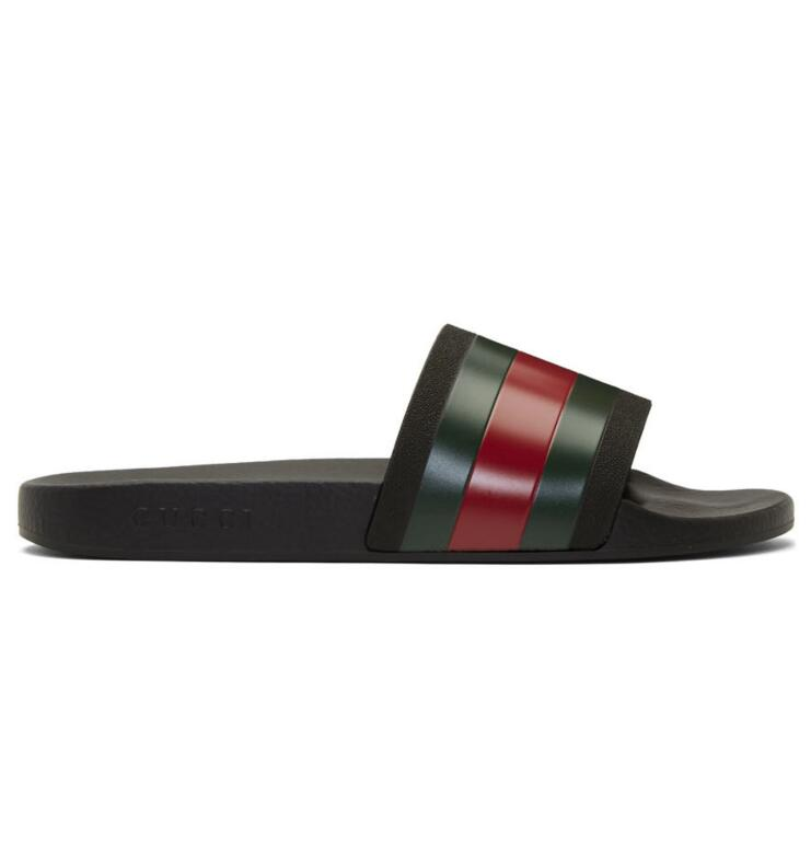 Gucci官网定价$210男士条纹拖鞋