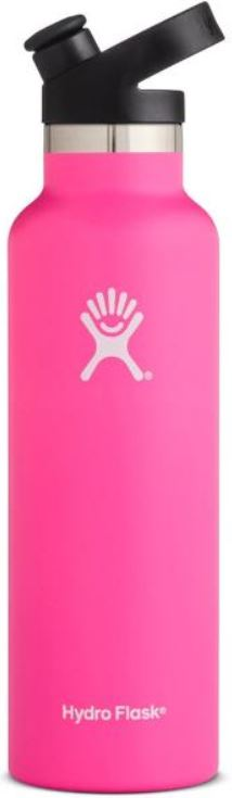 21oz Hydro Flask Standard-Mouth Vacuum Water Bottle w/ Sport Cap (Pink)