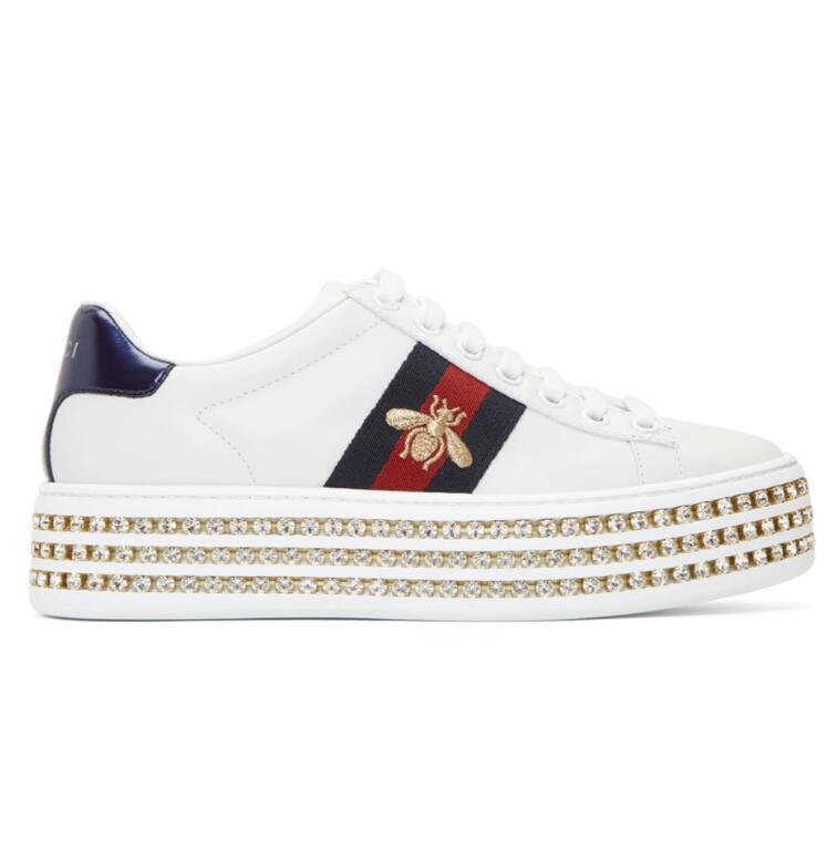 Gucci White Crysta厚底小白鞋