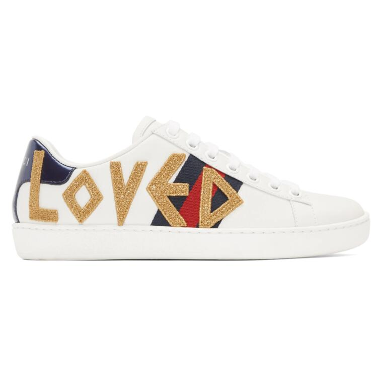 Gucci White 'Loved' Ace小白鞋