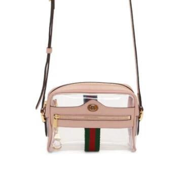 Gucci Transparent & Pink透明斜挎包