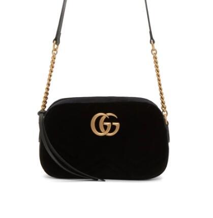 Gucci Black Velvet GG相机包