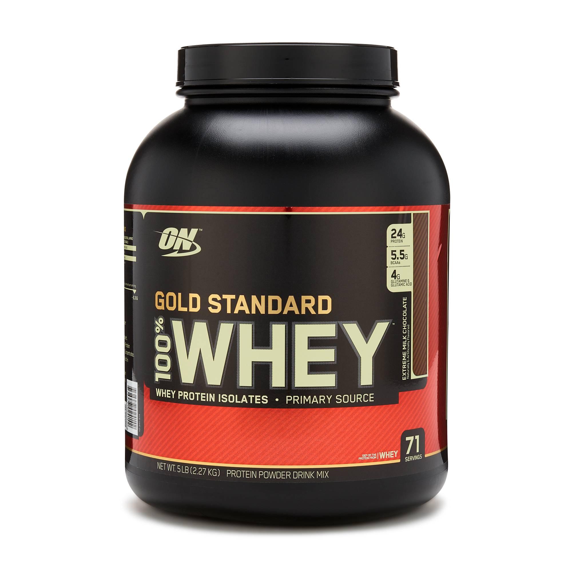 5 lbs Optimum Nutrition Gold Standard 100% Whey Protein Powder (Various)