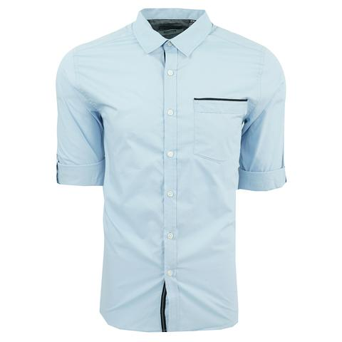 Kenneth Cole Reaction Men's Solid Roll Up Long Sleeve Shirt (various colors)