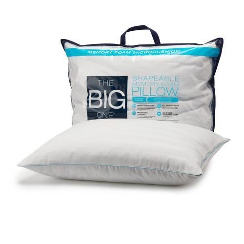The Big One Shapeable Memory Foam Pillow or Gel Memory Foam Side Sleeper