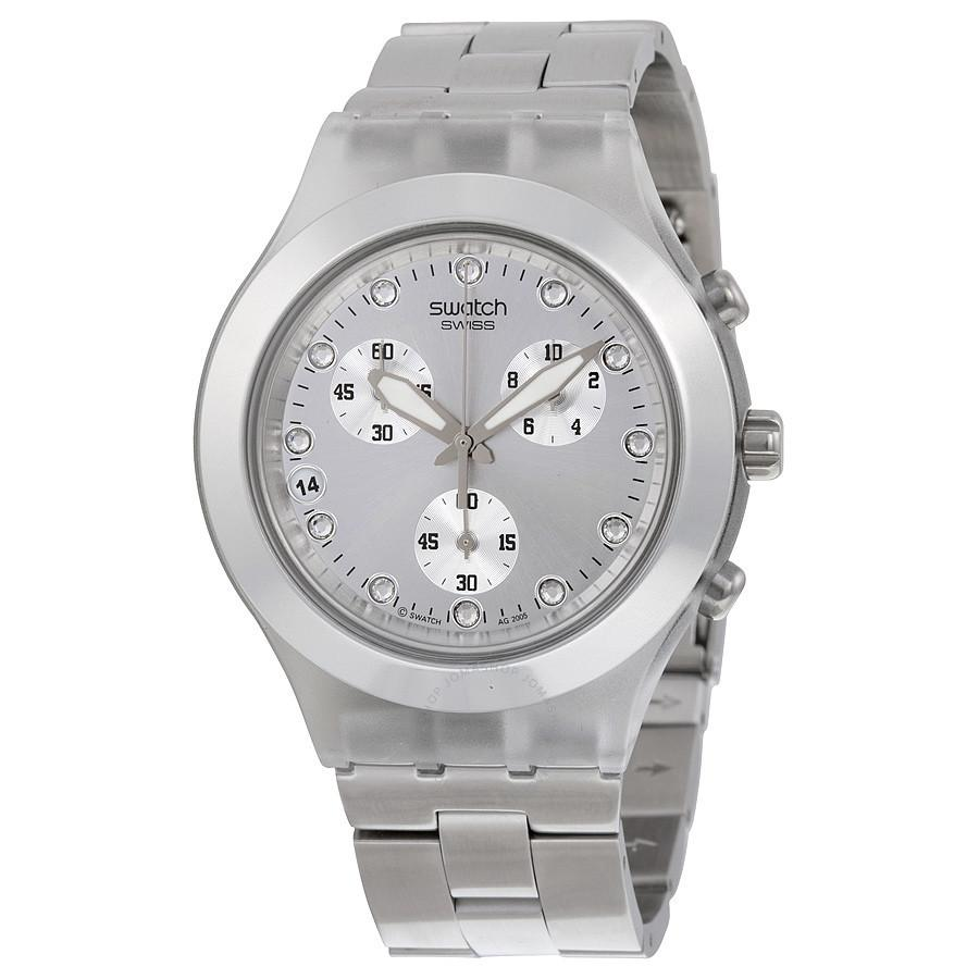 Swatch Full-Blooded Chronograph Watch w/ Stainless Steel Bracelet