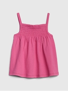 Gap: 50% Off Select Markdown Styles: Baby Smocked Tank Top (Pink)