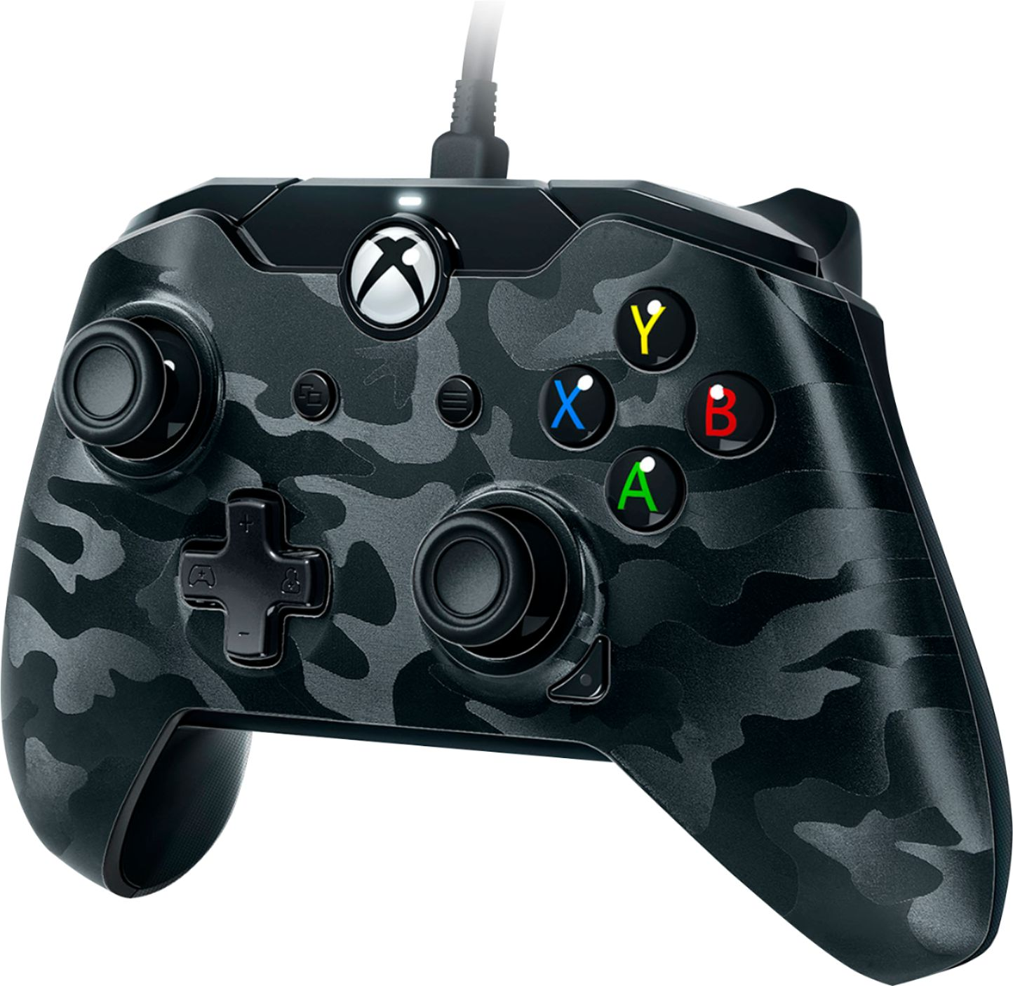 PDP Deluxe USB Wired Controller for Xbox One / PC (Phantom Black)