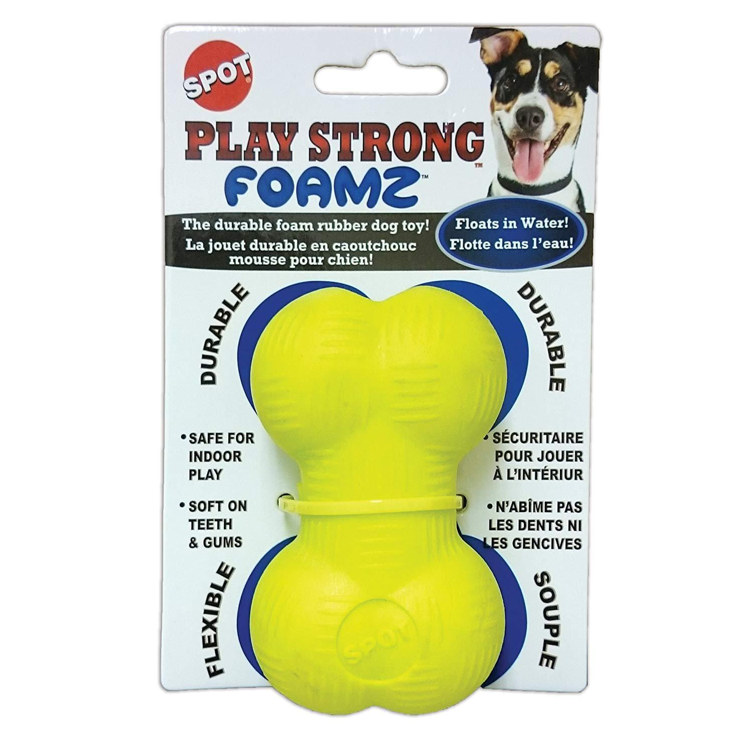 Ethical Pets Spot Play Strong Foamz Rubber Dog Toys (18mo Warranty): 2.75in Chew $2.32 or 3.5in Bone $1.74  FS w/ Prime