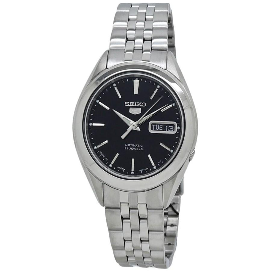 Seiko 5 Black Dial Men's Automatic Watch