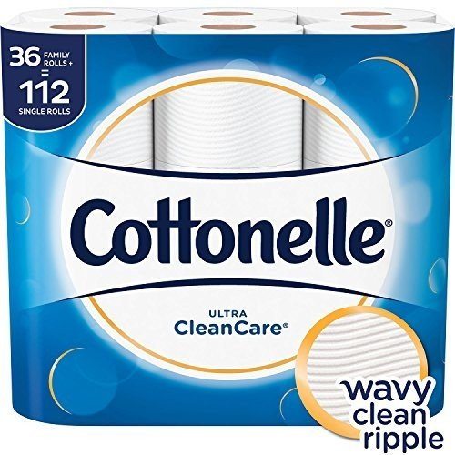 36-Ct Cottonelle CleanCare Toilet Paper (Family Rolls)