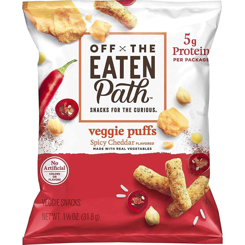 16-Ct 1.125oz Off the Eaten Path Veggie Puffs (Spicy Cheddar or Sour Cream & Onion)