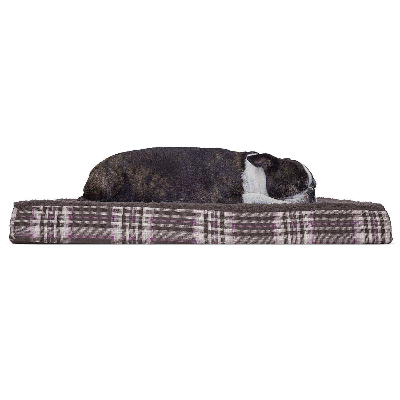 "Furhaven Orthopedic Foam Pet Dog Bed (Java Brown, 30"" x 20"" x 3"")"