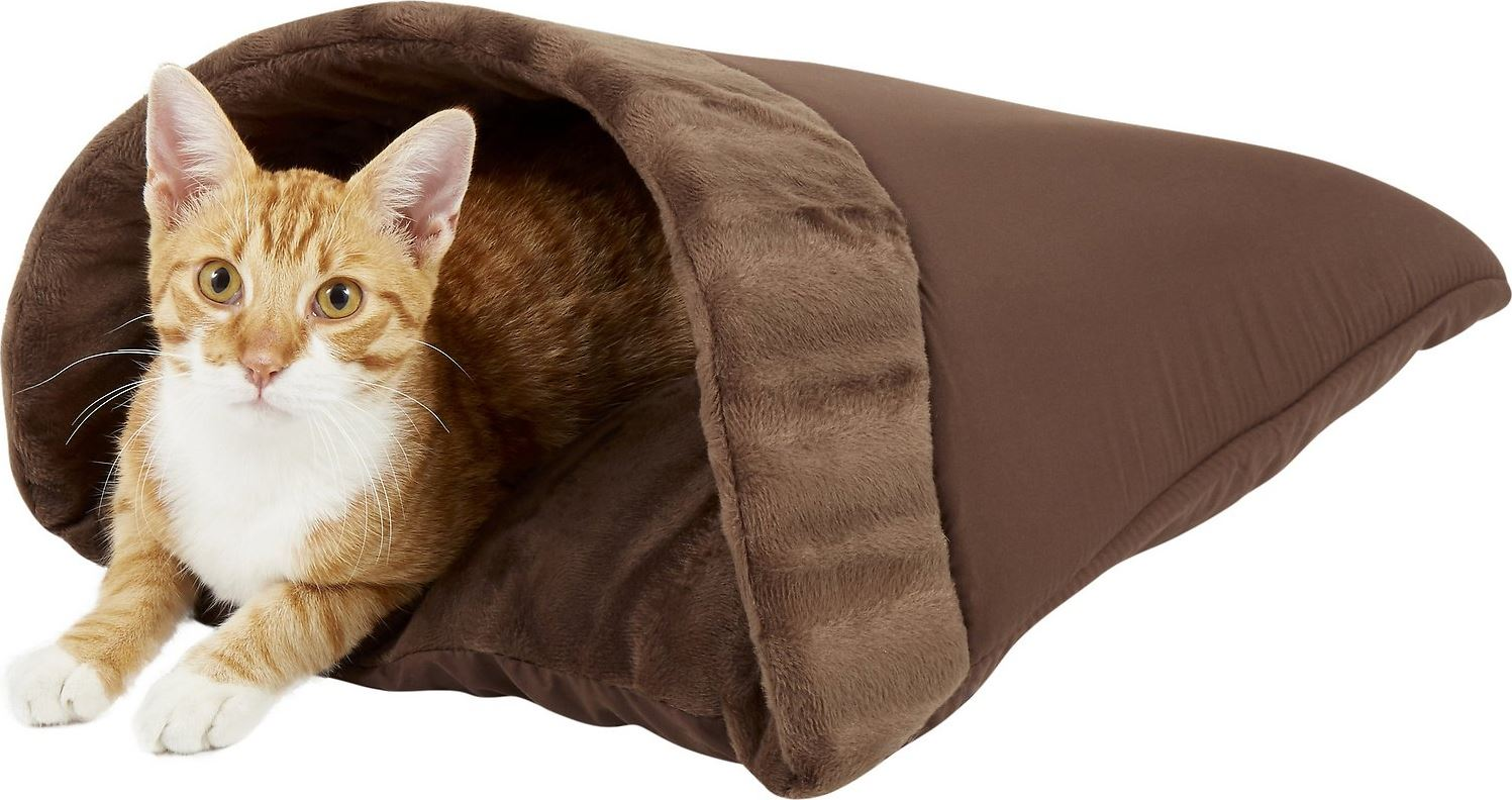 Aspen Kitty Cave Pet Bed (Chocolate Brown)