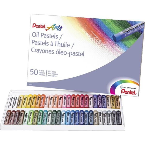 50-Count Pentel Arts Oil Pastel Set