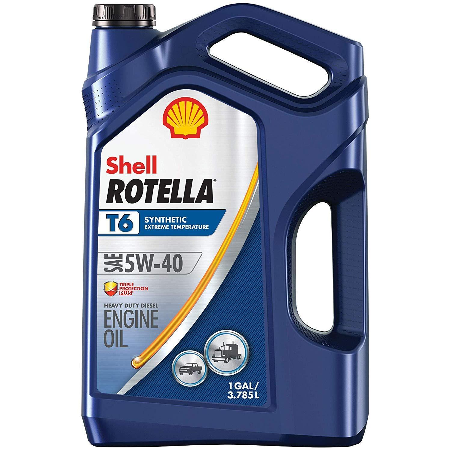 3-Pack of 1-Gallon Shell Rotella T6 Full Synthetic Diesel Engine Oil (5W-40)
