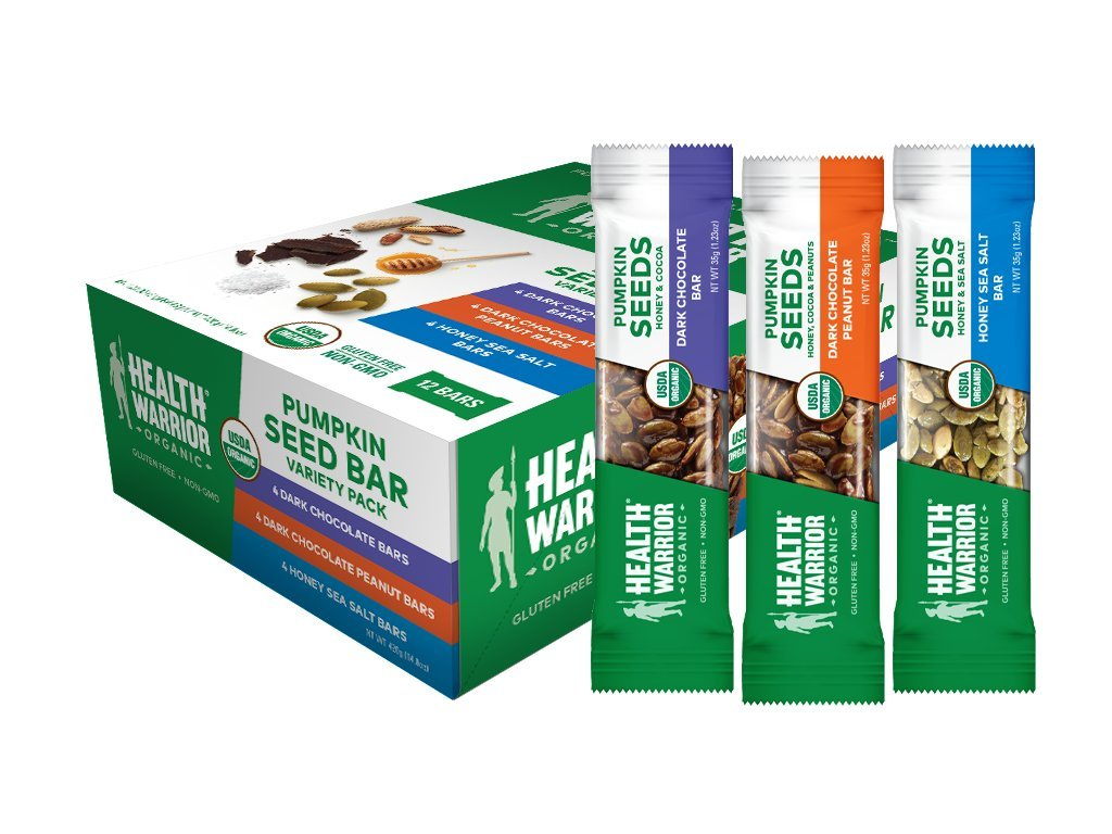 12-Count Health Warrior Organic Pumpkin Seed Protein Bars (Variety Pack)
