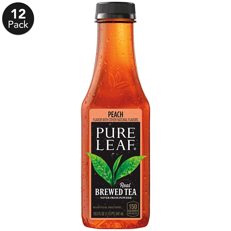 12-Pack 18.5-Oz Pure Leaf Real Brewed Sweetened Iced Tea (Peach)