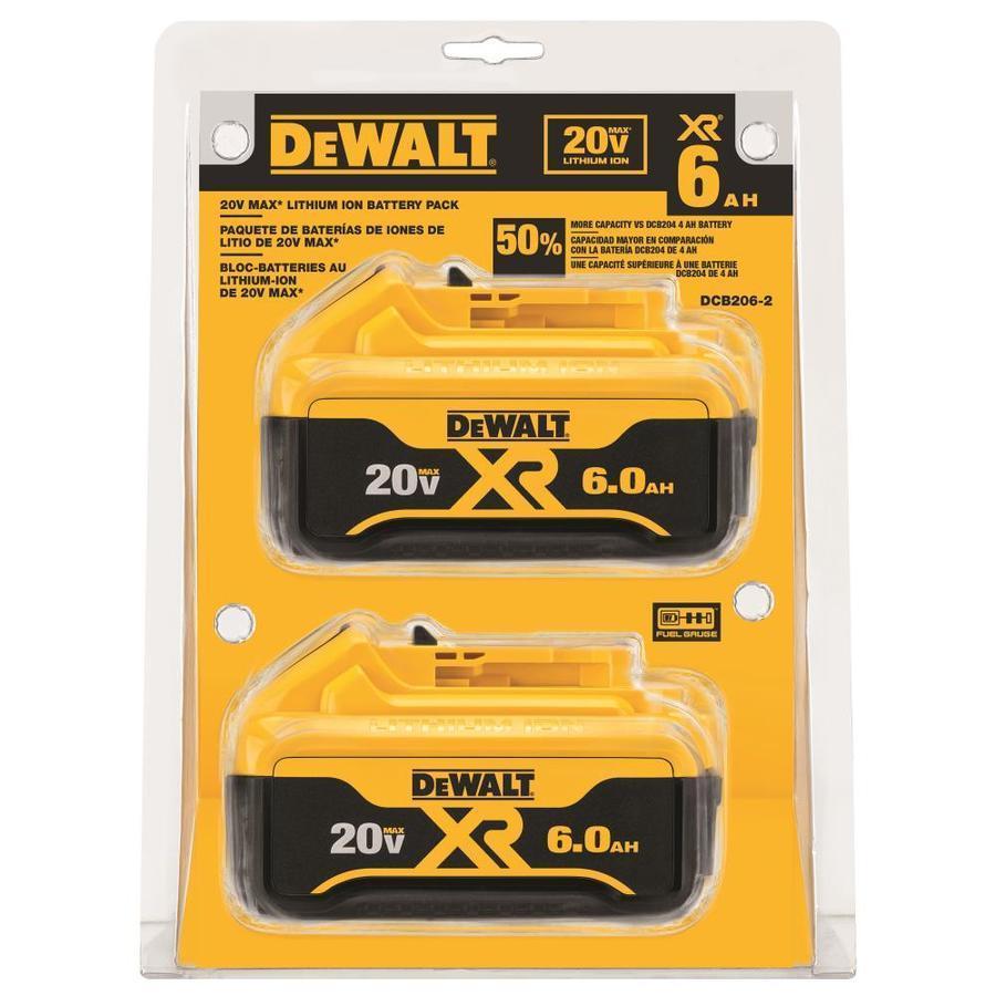 Dewalt 2-Pack 20V 6-Amp-Hours Power Tool Battery Kit