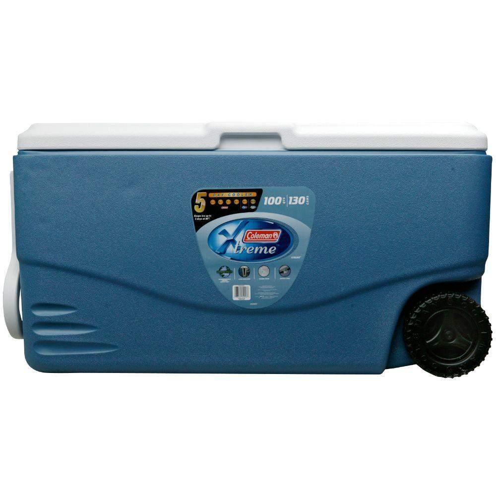 100-Quart Coleman Xtreme Wheeled Cooler (Blue)