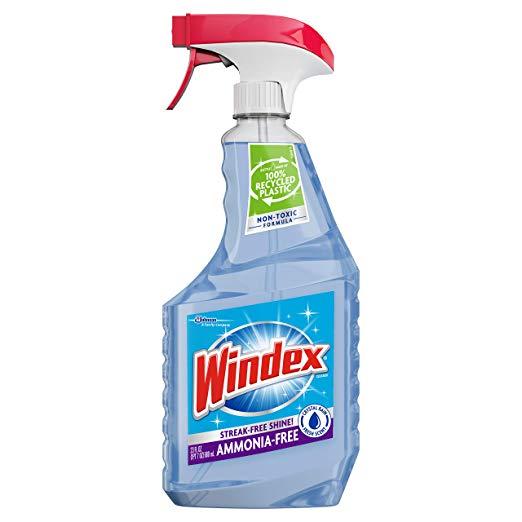 23oz. Windex Ammonia Free Glass Cleaner (Crystal Rain)