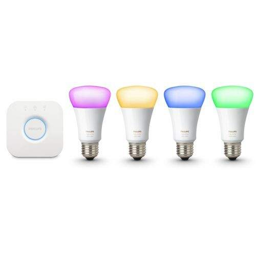 Philips Hue White & Color Ambiance A19 4-Bulb Kit (Refurb, Gen 3)