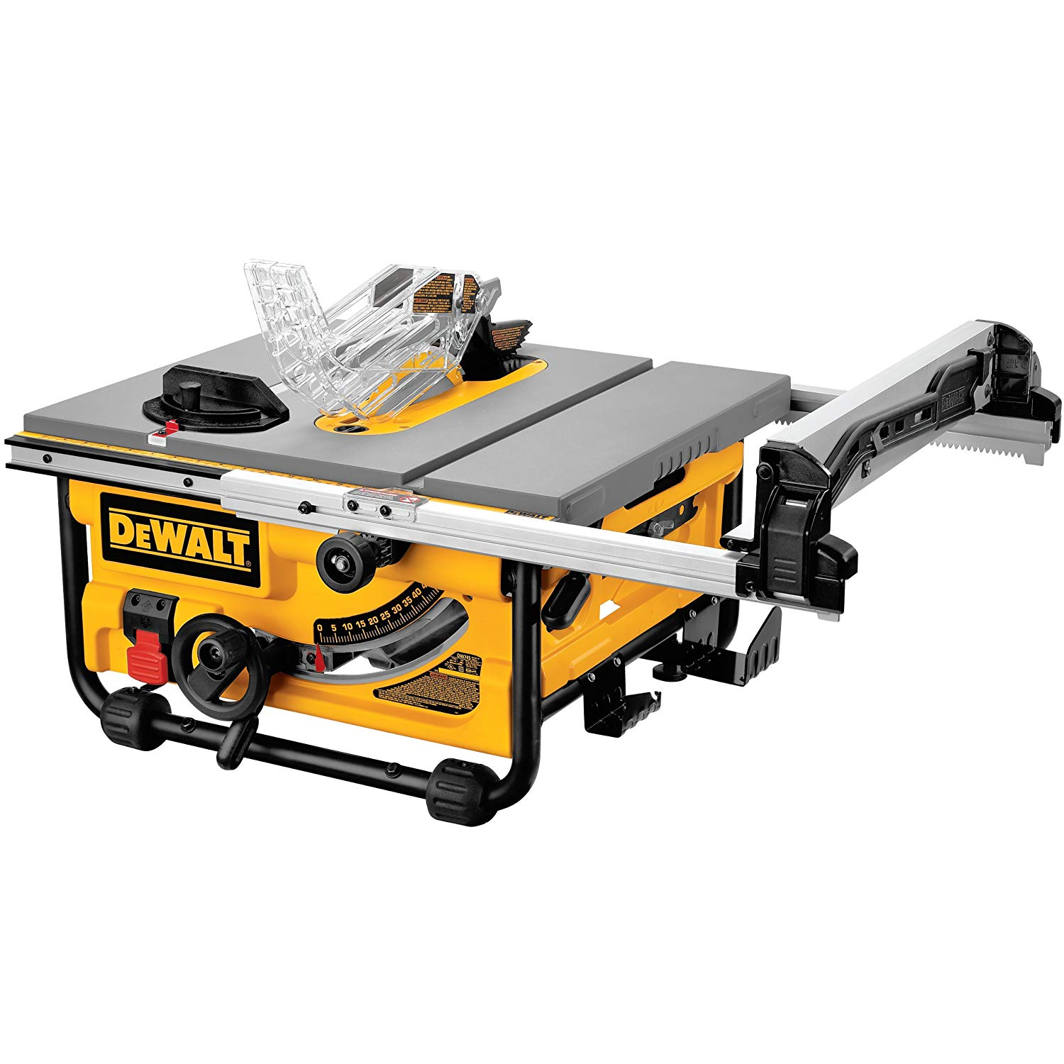 """DeWalt: 15-Amp Corded 10"""" Compact Table Saw w/ Site-Pro Modular Guarding System"""