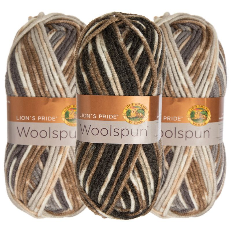 3-Pack Yarn Skeins (Lion Brand, Caron or Red Heart)