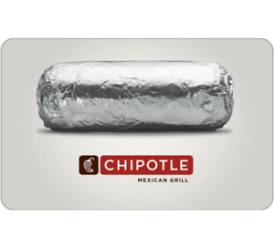 $25 Chipotle Gift Card (Email Delivery)