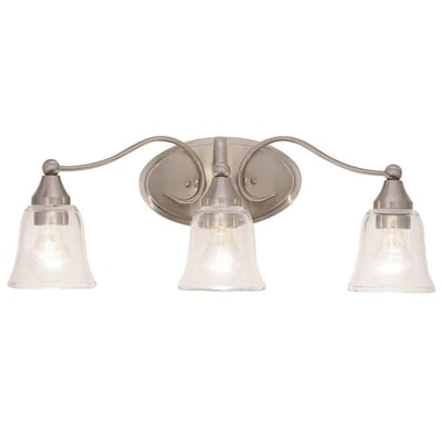 Lowe's Lighting Clearance: Kichler Hamden 3-Light Nickel Vanity Light Bar