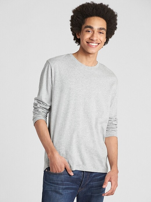 Gap Extra 50% Off Select Men's Styles: Long Sleeve Classic T-Shirt (Grey)