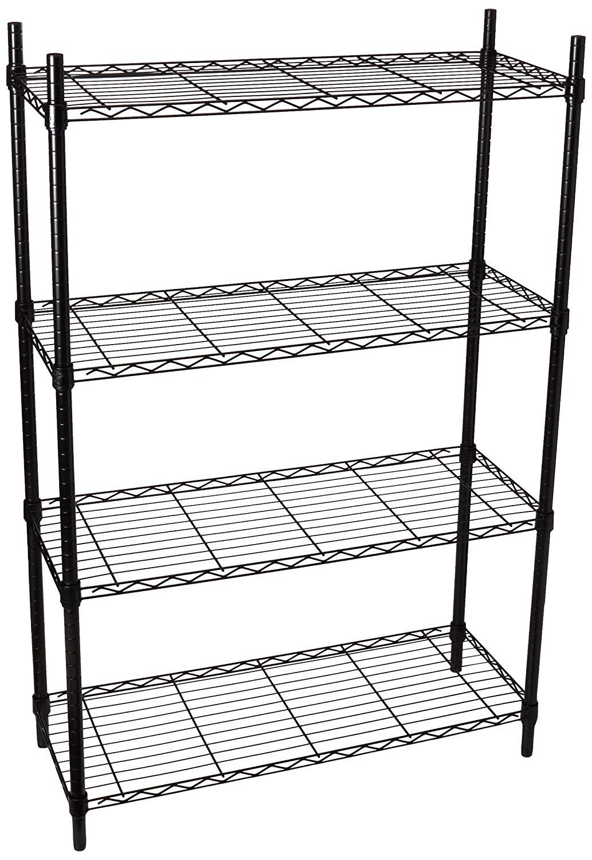 "Honey-Can-Do 4-Tier 36"" x 14"" x 54"" Steel Storage Shelving (250-lbs Per Shelf)"