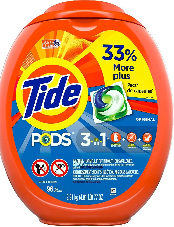 96-Count Tide Pods Laundry Detergent Pacs (Various)