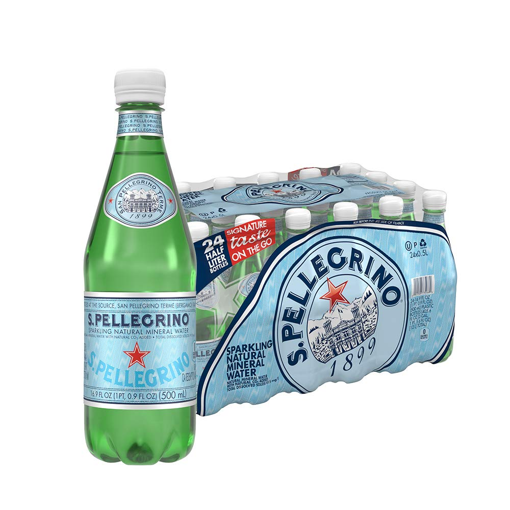 24-Pack 16.9oz S.Pellegrino Sparkling Natural Mineral Water
