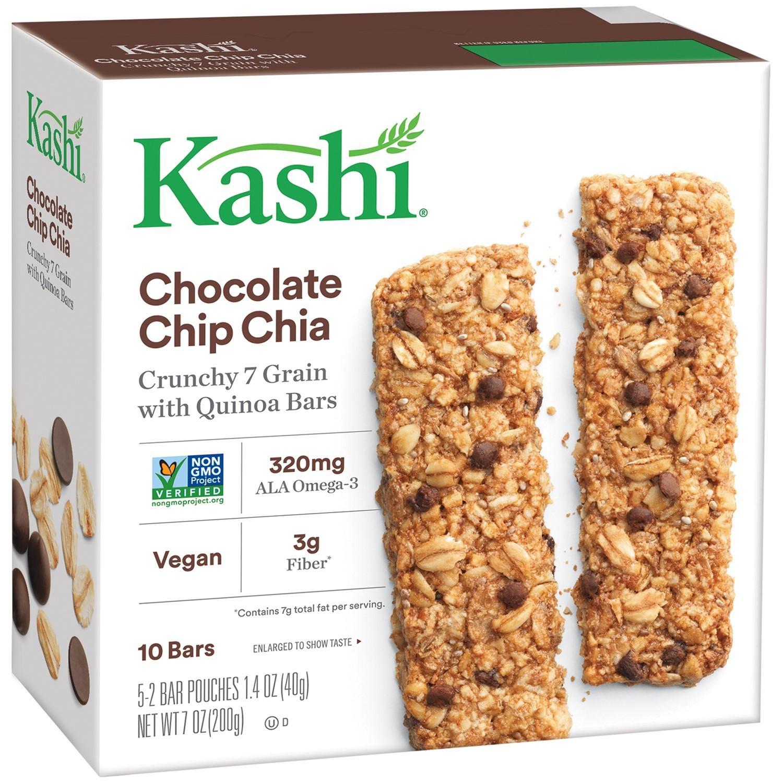 10-Count Kashi Crunchy Chocolate Chip Chia Vegan Granola Bars
